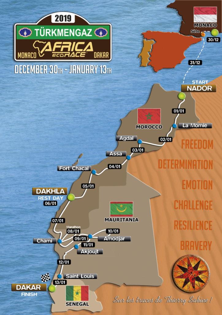 Africa Race 2019, mapa