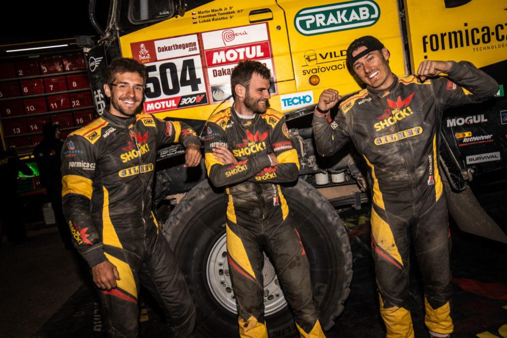 Macík, Kalanka, Tomášek, Dakar 2019