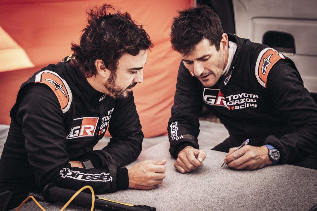 Fernando Alonso & Marc Coma, Lichtenburg 2019