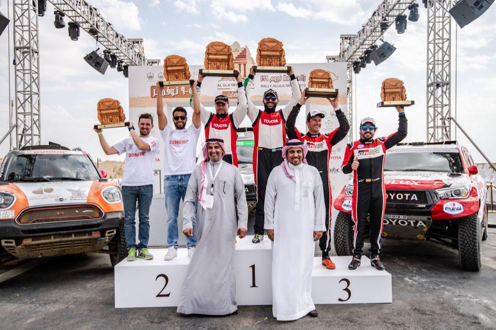 Stupně vítězů Ula-Neom Cross-Country Rally 2019