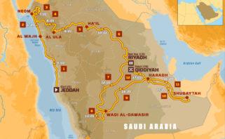 Dakar 2020 mapa