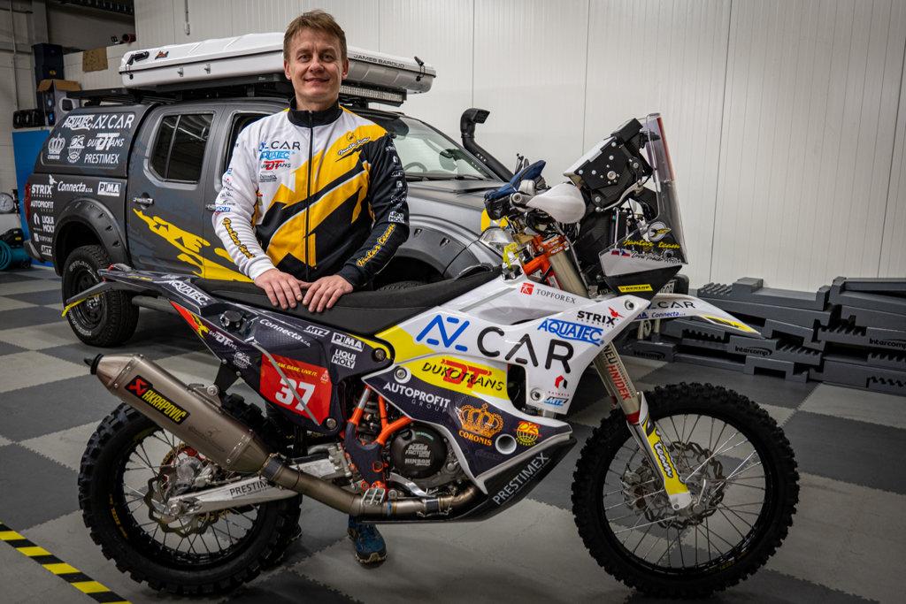 David Pabiška před Rally Dakar 2021