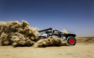 Audi RS Q e-tron, testování Maroko 2021